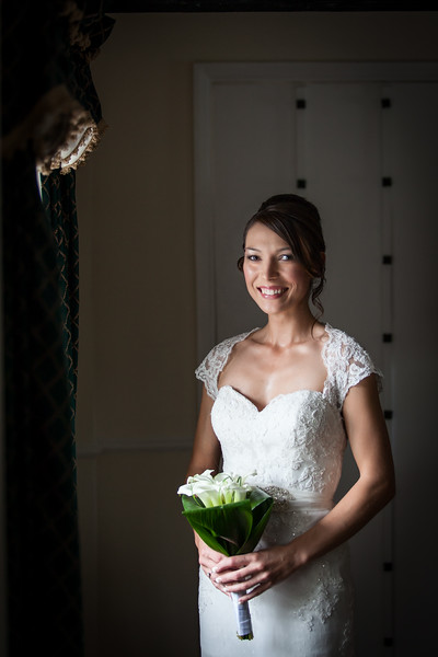 Bridal portrait at Ghyll Manor