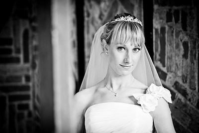 Bridal portrait at Gatwick Manor, West Sussex