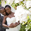 Formal portrait of a bride and groom at Whitgift School in Croydon