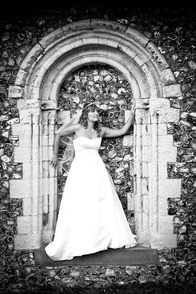 Bride portrait at St Margaret's Church in Hooley