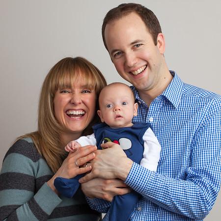 Newborn Baby Family Portrait