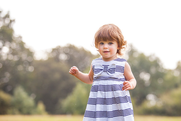 Little Girl portrait at Box Hill in Surrey
