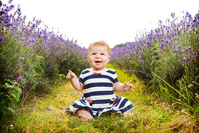 Portrait of a young child at Mayfield Lavender Field