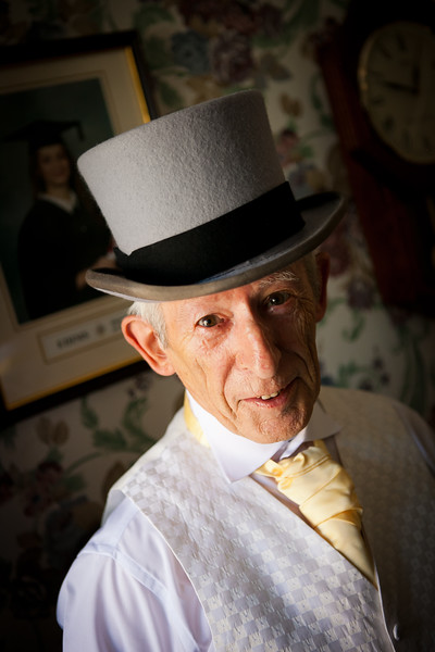 Father of the bride wearing a top hat