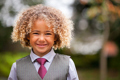 Young boy at a wedding at Sutton Registry Office
