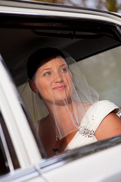The bride arrives at Sutton Registry Office