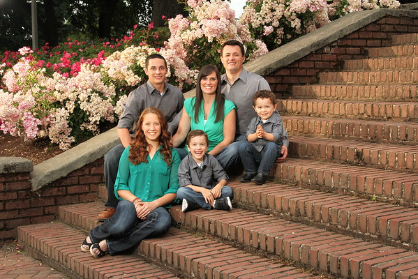 Family Portrait at Peninsula Park, Portland Oregon