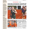 News and Tribune Sports Front page<br /> May 8, 2013