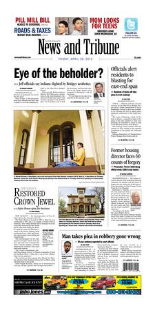 April 26, 2013 - front page