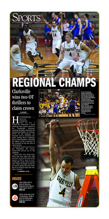 Sports Front Page - March 17, 2014 - Featuring Clarksville Generals Regional Championship