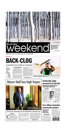 News and Tribune - Front page - published January 18, 2014