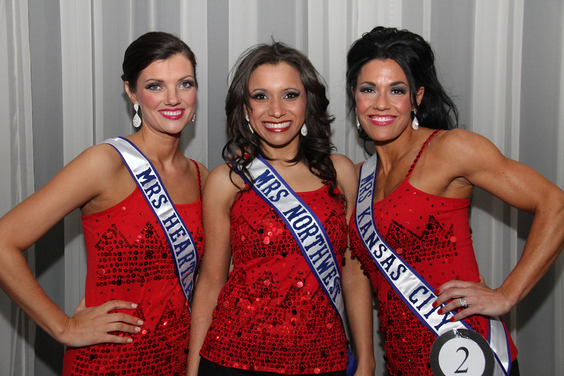 2013 Mrs Missouri America and Mrs Kansas America Pageant 1st half, Saturday, March 2, 2013<br /> Kristi Kelley (Mrs Heartland America 2013), Lori Shields (Mrs Northwest 2013) and Carrie Neer Rieger (Mrs Kansas City 2013)