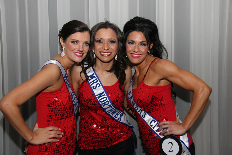 2013 Mrs Missouri America and Mrs Kansas America Pageant 1st half, Saturday, March 2, 2013<br /> Kristi Kelley (Mrs Heartland America 2013), Lori Shields (Mrs Northwest 2013) and Carrie Neer Rieger (Mrs Kansas City 2013)