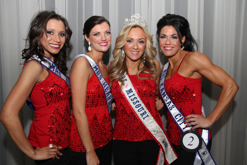 2013 Mrs Missouri America and Mrs Kansas America Pageant 1st half, Saturday, March 2, 2013<br /> Lori Shields (Mrs Northwest 2013), Kristi Kelley (Mrs Heartland America 2013), Tina York (Mrs Missouri America 2012) and Carrie Neer Rieger (Mrs Kansas City 2013)
