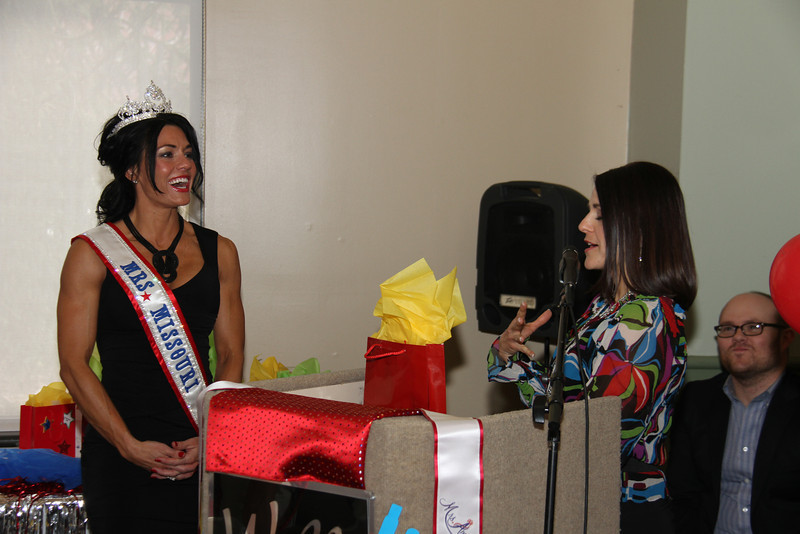 2013 Mrs Missouri America and Mrs Kansas America Pageant Awards Breakfast, Sunday, March 3, 2013<br /> Carrie Neer Rieger (Mrs Missouri America 2013), Teresa Foli (pageant director) and Dustin Rennells