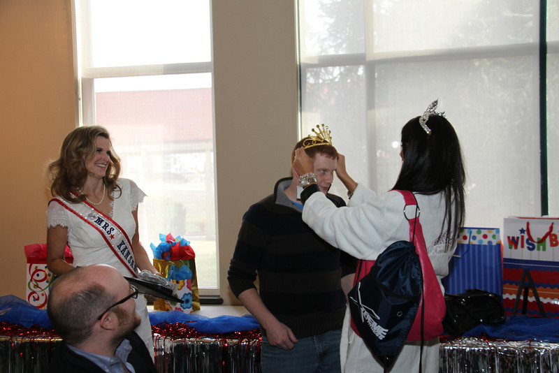 2013 Mrs Missouri America and Mrs Kansas America Pageant Awards Breakfast, Sunday, March 3, 2013<br /> Bobbie Padgett (Mrs Kansas America 2012) and Dustin Rennells watching the crowning of Matthew Stephens as Mr Kansas America 2013 by Elizabeth Stephens (Mrs Missouri America 2013)