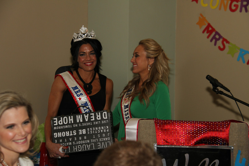 2013 Mrs Missouri America and Mrs Kansas America Pageant Awards Breakfast, Sunday, March 3, 2013<br /> Carrie Neer Rieger (Mrs Missouri America 2013) and Tina York (Mrs Missouri America 2012) with Bobbie Padgett (Mrs Kansas America 2012) in the left lower corner.
