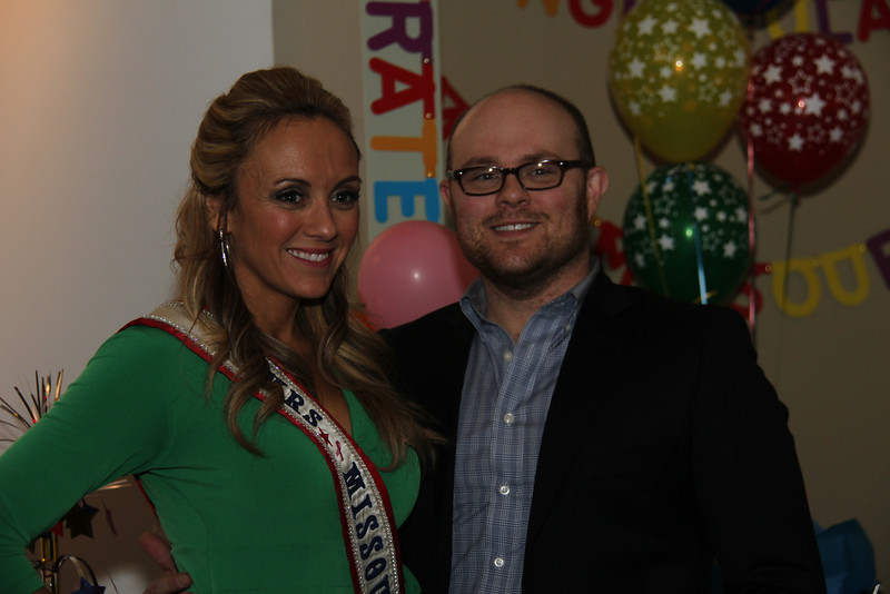 2013 Mrs Missouri America and Mrs Kansas America Pageant Awards Breakfast, Sunday, March 3, 2013<br /> Tina York (Mrs Missouri America 2012) and Dustin Rennells