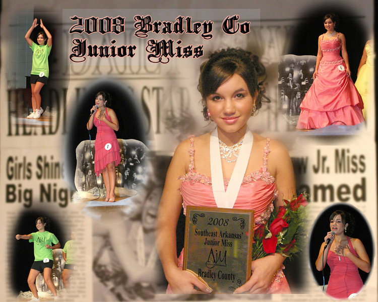 Congratulation to Lindsey Payne 2008 Bradley County Junior Miss. Photoshop composite.