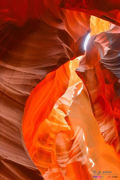 Inside of Antelope Canyon.