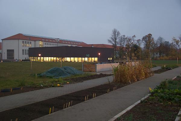 herbstliche Schauparzellen Weinberg Campus