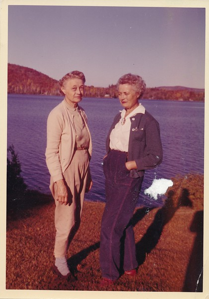 Roger Rowland's mother on the left and her sister. Canada