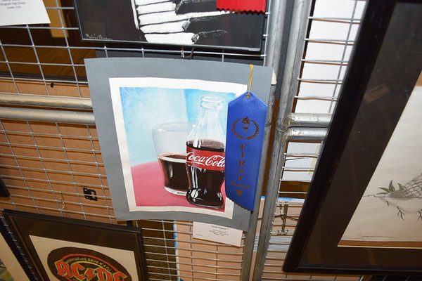 Camryn Crowell, a junior at Effingham High School, earned first place for 'Soda Poppin', an acrylic work. Dawn Schabbing photo