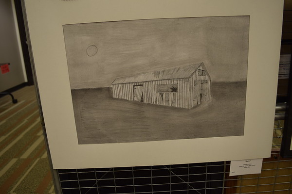 """Barn"" by Lane Brummer an eighth grader at Dieterich Junior High was a part of the Childrens Art Show. Dawn Schabbing photo"