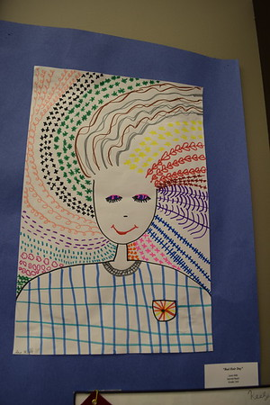 """""""Bad Hair Day,"""" was made by Lena Hille, a third grader at Sacred Heart. It was among other displayed at the Children's Art Show in 2019. Dawn Schabbing photo"""