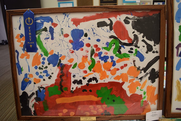 "A first place award was given to Taylor Niemerg in this acrylic creation called ""The Castle,"" who is a PreK student at Teutopolis. Dawn Schabbing photo"