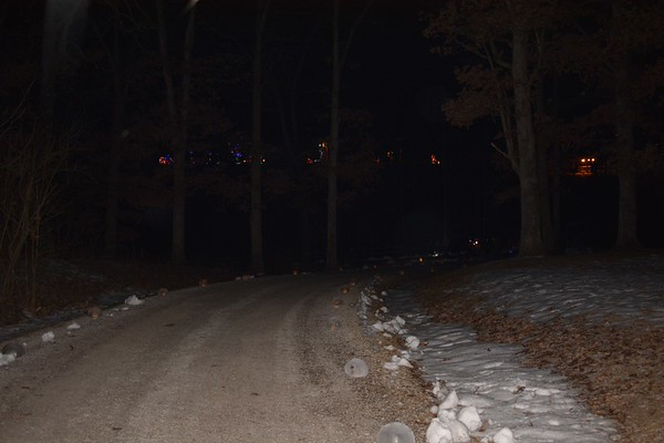 The trail was lined with luminaries Saturday night.