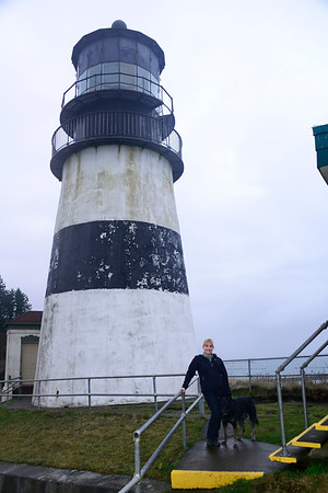 Cape Disappointment Lighthouse with Chelsea