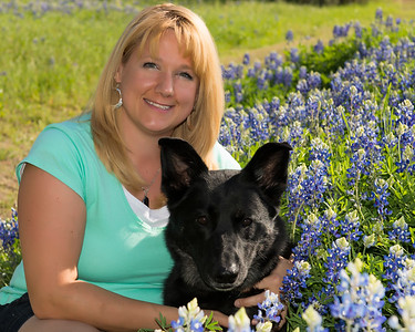 In the Texas Bluebonnets with Chelsea<br /> Marble Falls, Texas