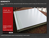 $75 : Serenity Cover Upgrade is a laminate cover panel that is a white textured laminate.
