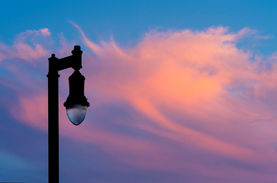 Lamppost at Sunset 2