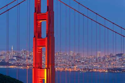 Golden Gate & San Francisco at Twilight