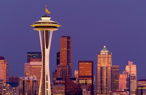 Seattle in Evening Twilight