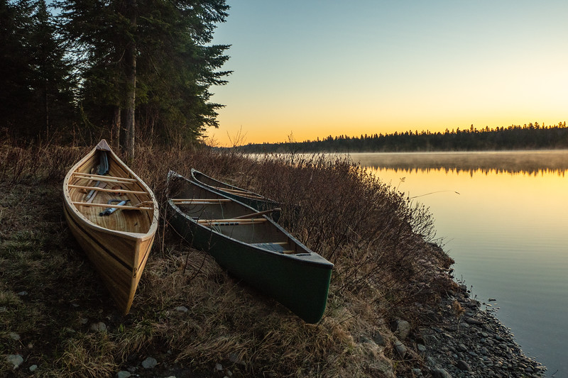 Tripping canoes