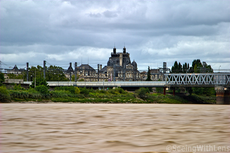 Traversing the Garonne River into Bordeaux, France