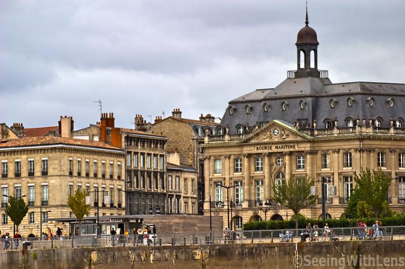 Traversing the Garonne River into Bordeaux, France