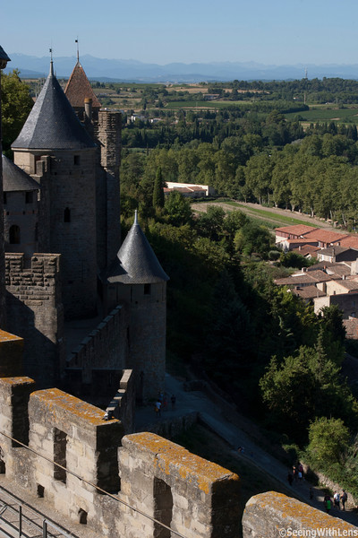 View of lower Carcassone from the Castle Carcassonne