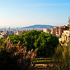 A view of Barcelona from Parc Guell. Very beautiful area.