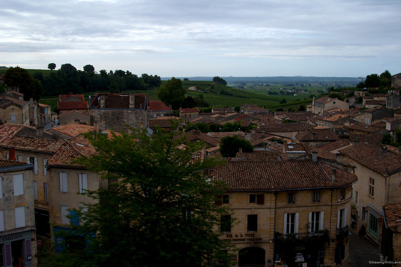 View form the terrace: Saint-Emilion, Aquitane, France
