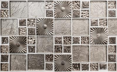 Shiny siver mosaic background