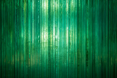 Thick green glass