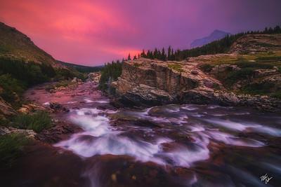 Sunset Cascades