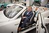 Eric Shephard Ecex Gen Mgr Dimmitt Auto sitting in a Rolls Royce