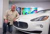 Bob Saraceno in his new Maserati