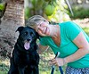 Hometown News - Janet Allen Glad Wags (Sept Blurb) with Bixby her 8 yr old mix Shep / Lab