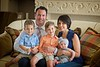 Hometown News - Hopkins Cardiovascular Associates - The Hopkins family Dr. Jordan wife Sharon in blue Nathan 3yrs and in orange Connor 5yrs and Ava 4 mos - with Lulu